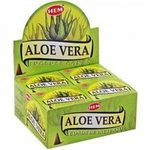 Kiany.nl - HEM Aloe Vera cones/kegel wierook