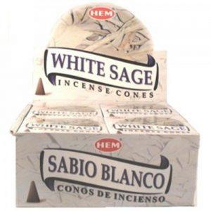 Kiany.nl HEM White Sage Cones/kegel wierook