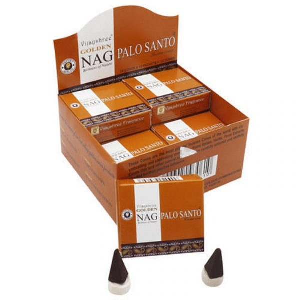 Kiany.nl - Vijashree Golden Nag Palo Santo cones/kegel wierook