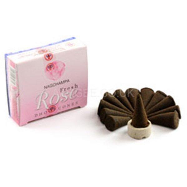 Kiany.nl - Nag Champa Fresh Rose cones wierook