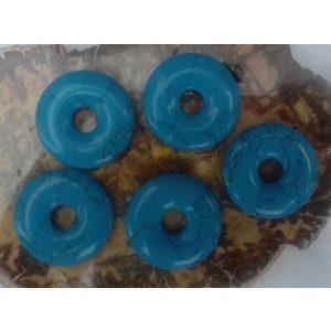 Turkoois donut 30 mm. - Kiany.nl