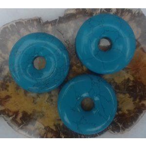 Turkoois donut 40 mm. - Kiany.nl